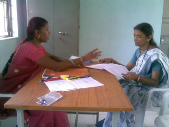 Sangam's Social Worker in the Counselling Cell