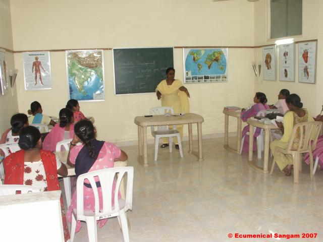 Theory classes for Trained Birth Attendants in the Rainbow Basement lecture hall